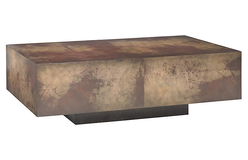 Oskar Coffee Table, Rust/Tawny