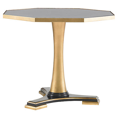 Wheat Side Table, Gold/Antiqued Mirror