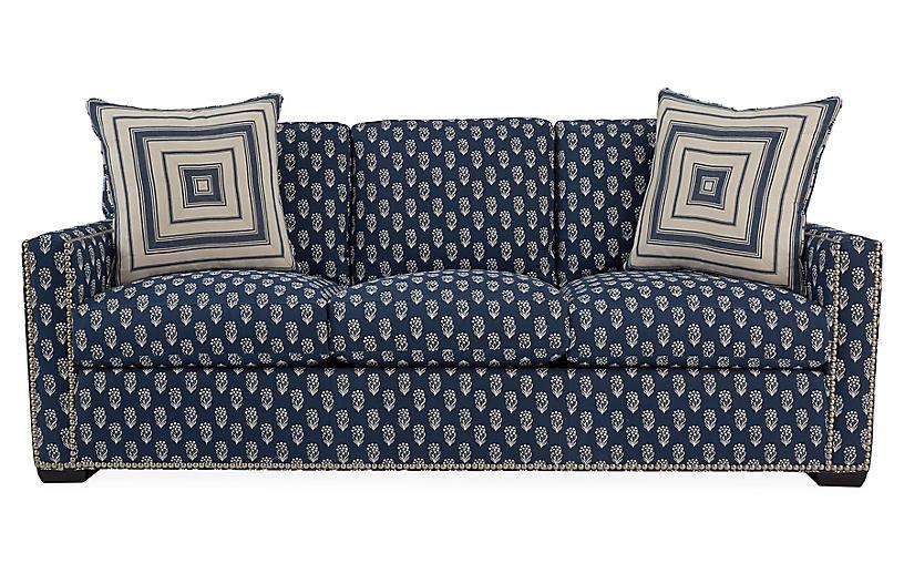 Concorde Sofa, Navy/Ivory