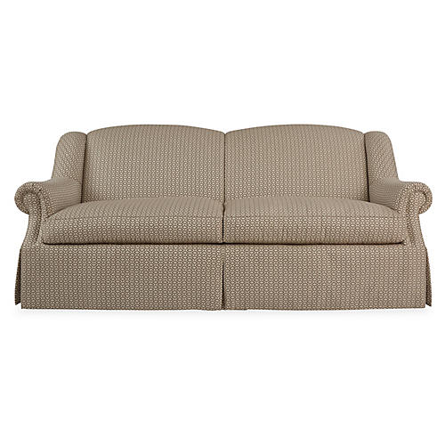 Slope-Arm Sofa, Natural