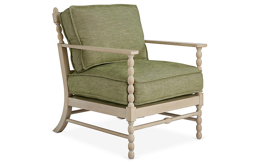 Spool Accent Chair, Spring Green