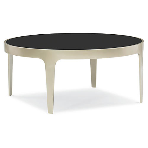 Loft Coffee Table, Brushed Pale Gold