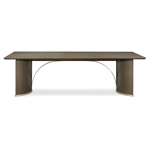 Uptown Large Dining Table, Heathered Oak