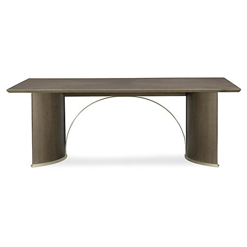 Uptown Small Dining Table, Heathered Oak