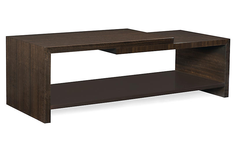 Moderne Coffee Table, Aged Bourbon