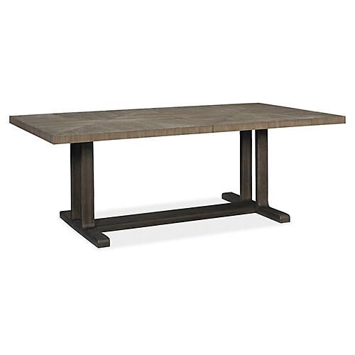 Fusion Dining Table, Ashen Oak