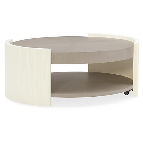 Tranquil Coffee Table, White/Serene Taupe