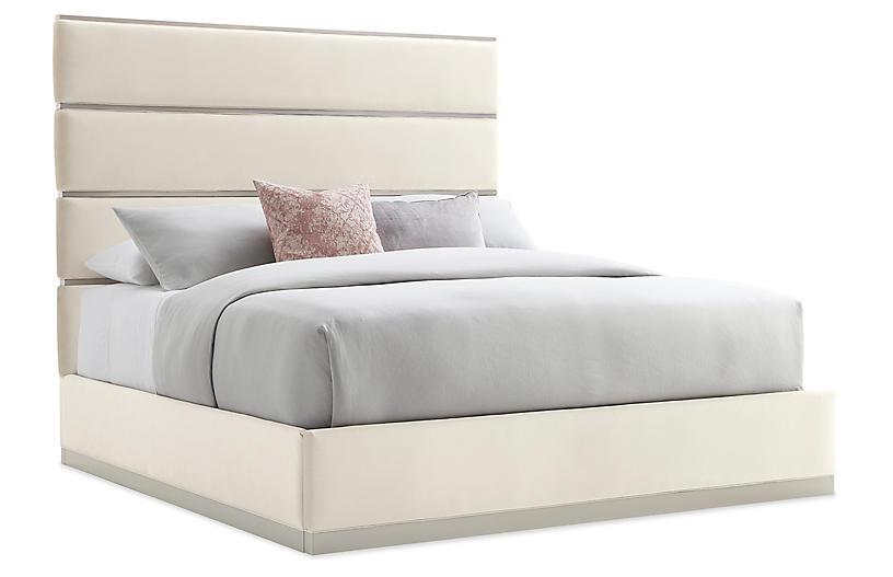 Grace Bed, Beige