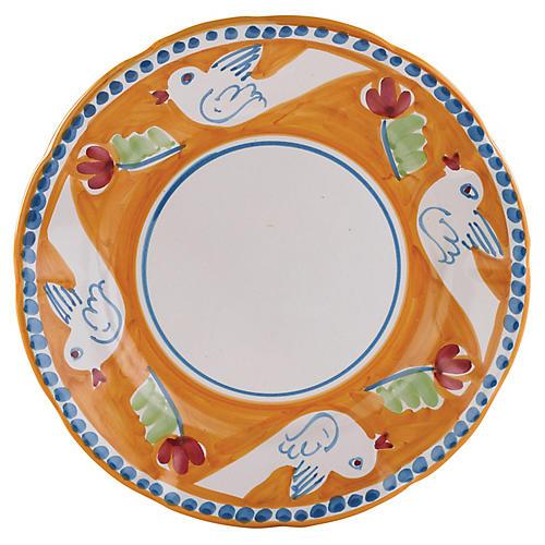 Uccello Dinner Plate, Orange