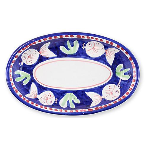 Pesce Oval Platter, White