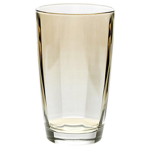 Optical Highball Glass, Amber