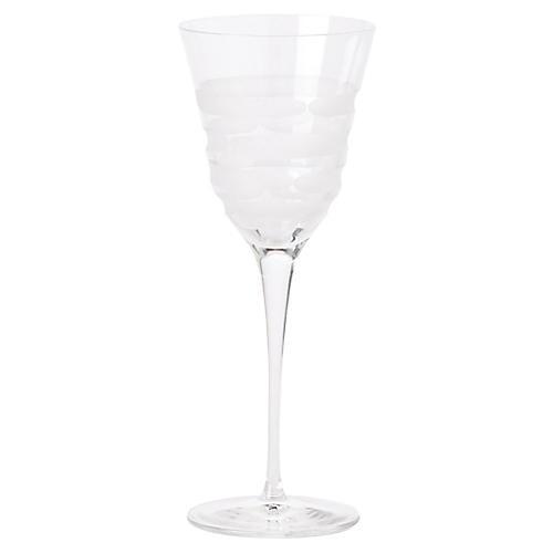 Optical Swirl Wineglass, Clear