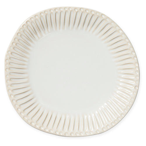 Incanto Stone Stripe Dinner Plate, Linen
