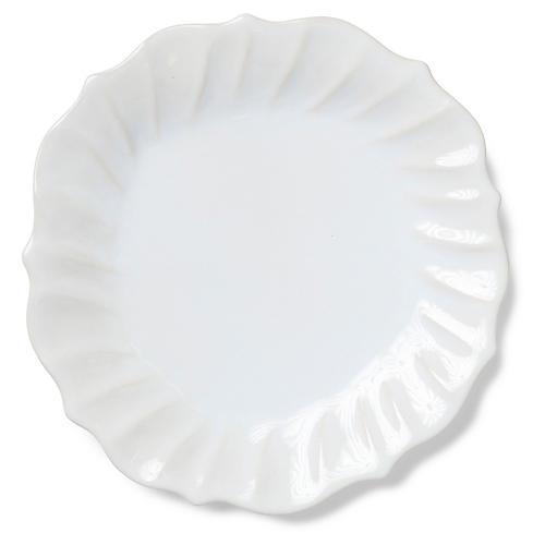 Incanto Stone Ruffled Dinner Plate, Linen