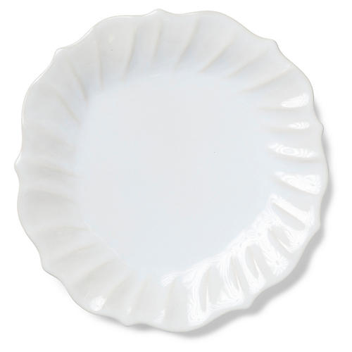 Incanto Stone Ruffled Dinner Plate, Linen