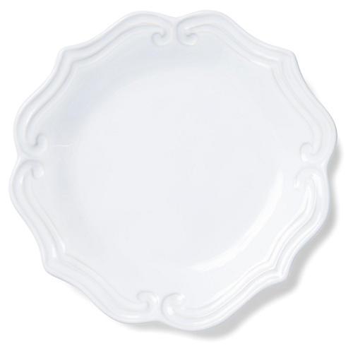 Incanto Stone Baroque Salad Plate, White