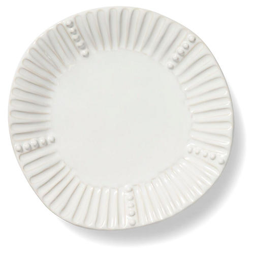 Incanto Stone Striped Salad Plate, White