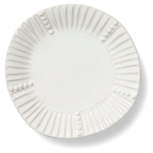Incanto Stone Striped Salad Plate, White