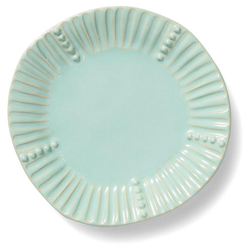 Incanto Stone Striped Salad Plate, Aqua