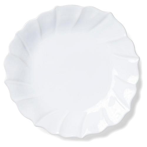 Incanto Stone Ruffled Salad Plate, White