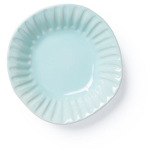 Incanto Stone Striped Pasta Bowl, Aqua