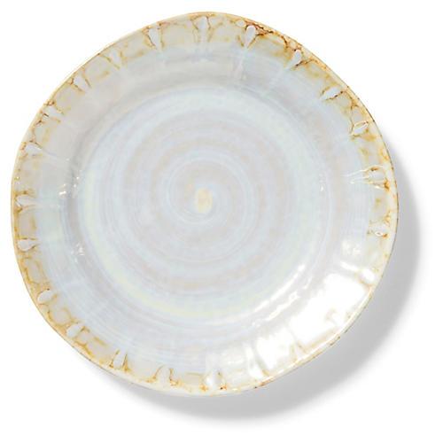Perla Salad Plate, Pearl/Gold