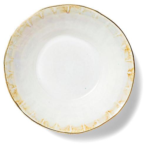 Perla Serving Bowl, Pearl/Gold