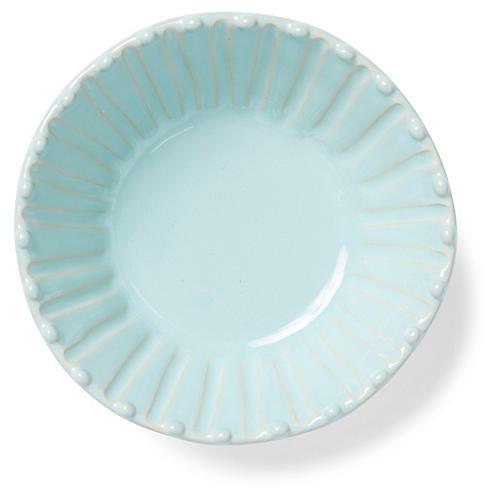 Incanto Stone Striped Cereal Bowl, Aqua