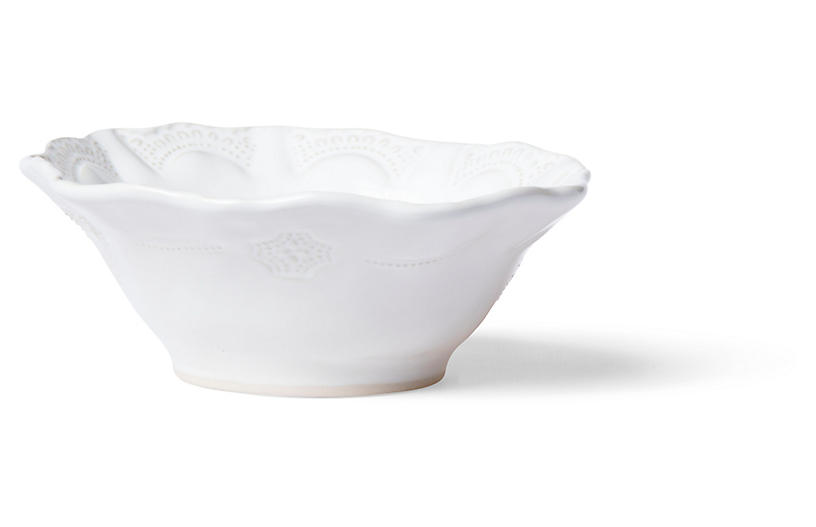 Incanto Stone Lace Cereal Bowl, White