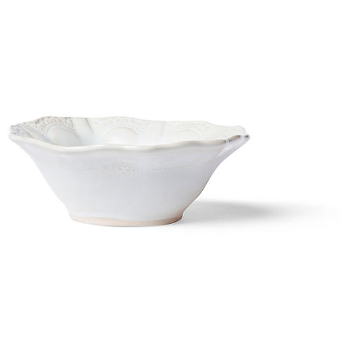 Incanto Stone Lace Cereal Bowl, White/Linen