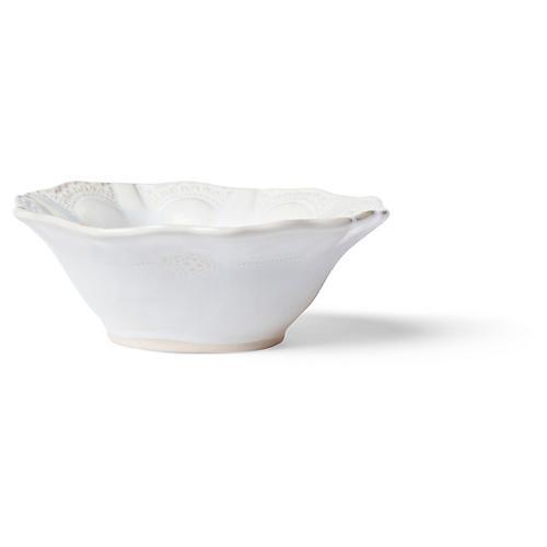 Incanto Stone Lace Cereal Bowl, White/Linen
