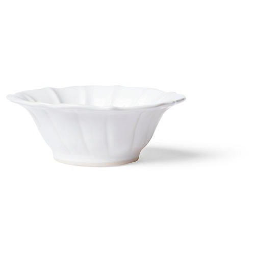 Incanto Stone Ruffled Cereal Bowl, White