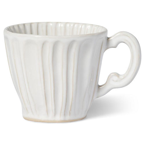 Incanto Stone Striped Mug, White
