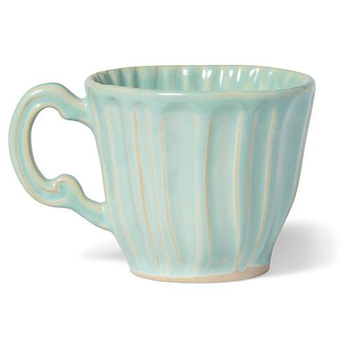 Incanto Stone Stripe Mug, Aqua