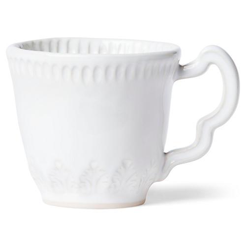 Incanto Stone Leaf Mug, White