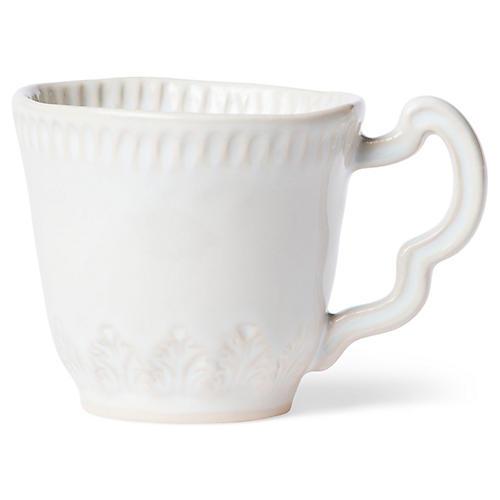 Incanto Stone Leaf Mug, Linen