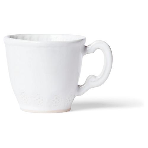 Incanto Stone Lace Mug, White
