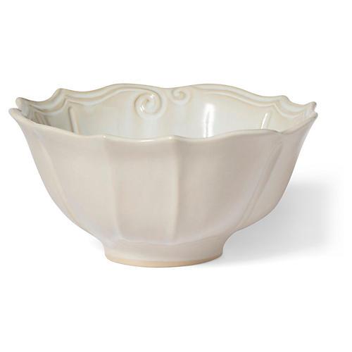 Incanto Stone Baroque Serving Bowl, Linen