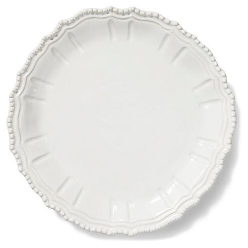 Incanto Stone Round Platter, White
