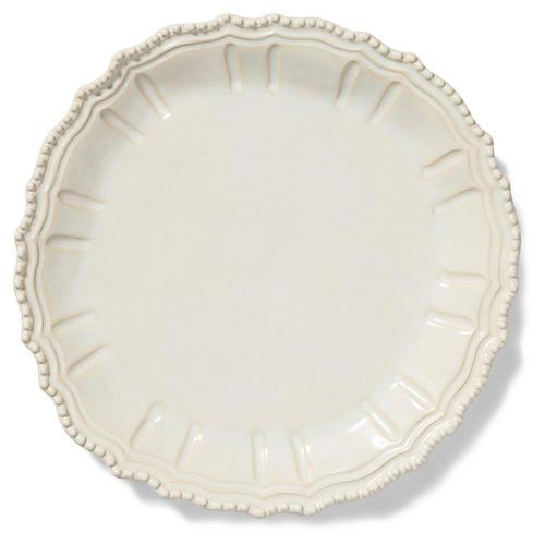 Incanto Stone Baroque Round Platter, Linen