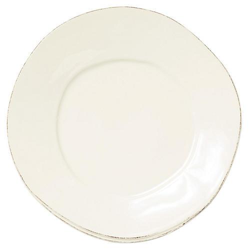 Lastra European Dinner Plate, White