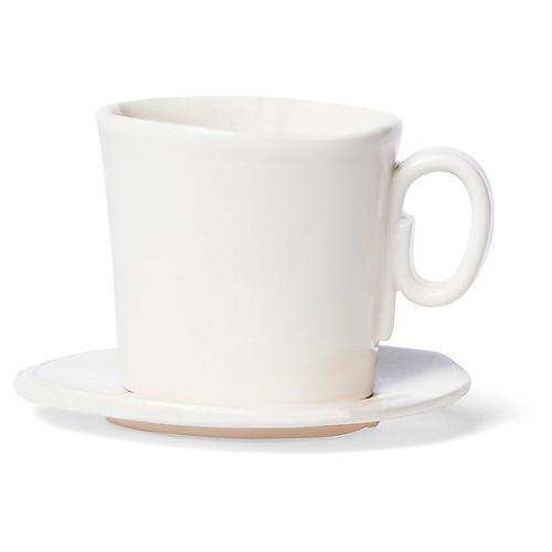 Lastra Espresso Cup & Saucer, Linen