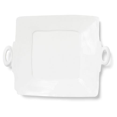 Lastra Square Platter, Linen