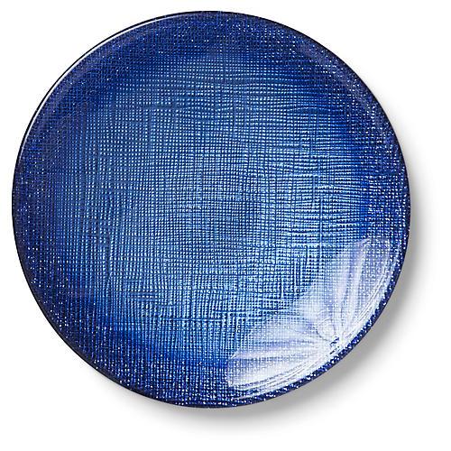 Glitter Canapé Plate, Cobalt