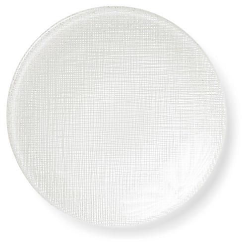 Glitter Canapé Plate, Linen
