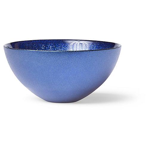 Glitter Serving Bowl, Cobalt