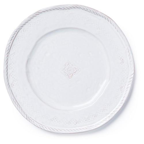 Bellezza Dinner Plate, White
