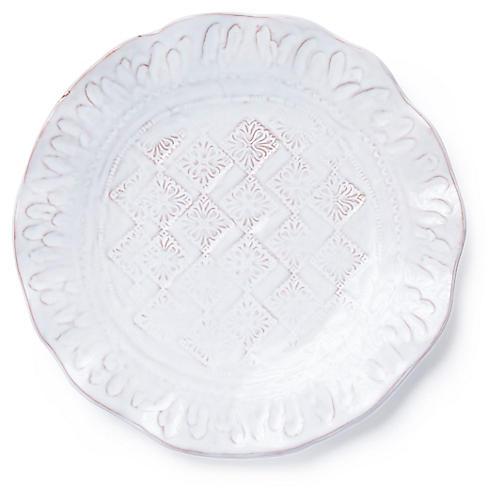 Bellezza Salad Plate, White