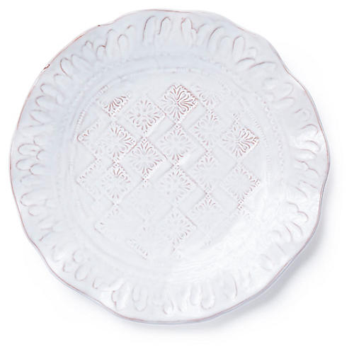 Bellezza Salad Plate, White