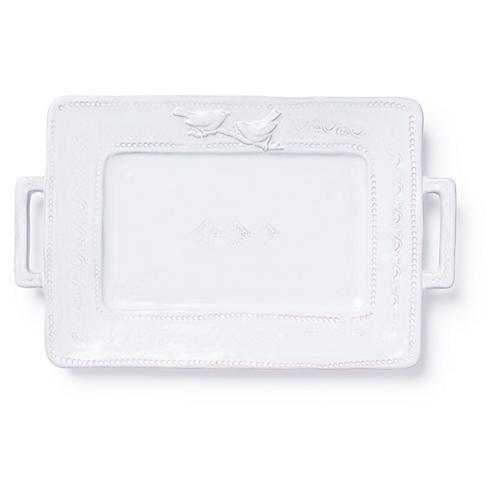 Bellezza Rectangular Platter, White